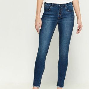 Kensie Skinny High Rise Button Jeans  Sz.14/32